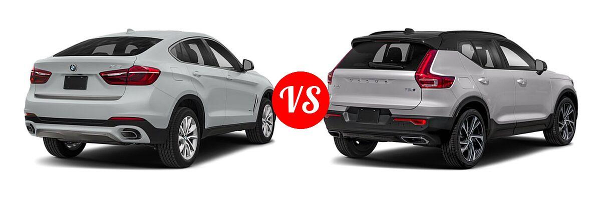 2019 BMW X6 SUV sDrive35i / xDrive35i / xDrive50i vs. 2019 Volvo XC40 SUV R-Design - Rear Right Comparison
