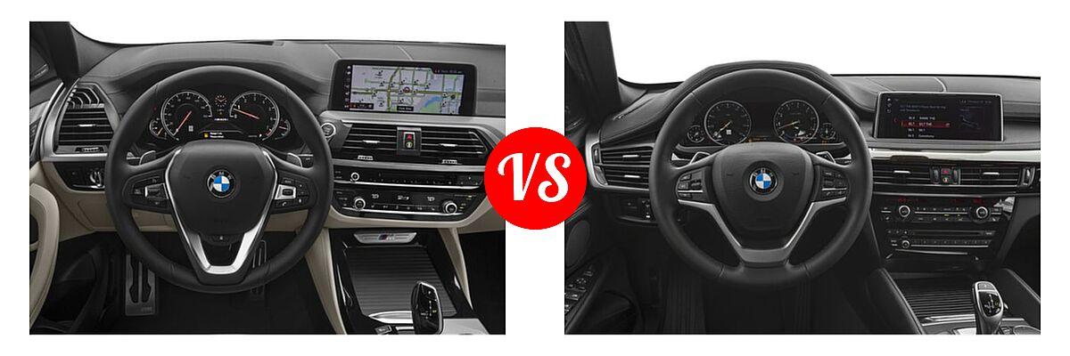 2019 BMW X4 M40i SUV M40i vs. 2019 BMW X6 SUV sDrive35i / xDrive35i / xDrive50i - Dashboard Comparison