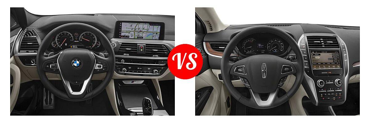 2019 BMW X4 M40i SUV M40i vs. 2019 Lincoln MKC SUV Black Label / FWD / Reserve / Select / Standard - Dashboard Comparison