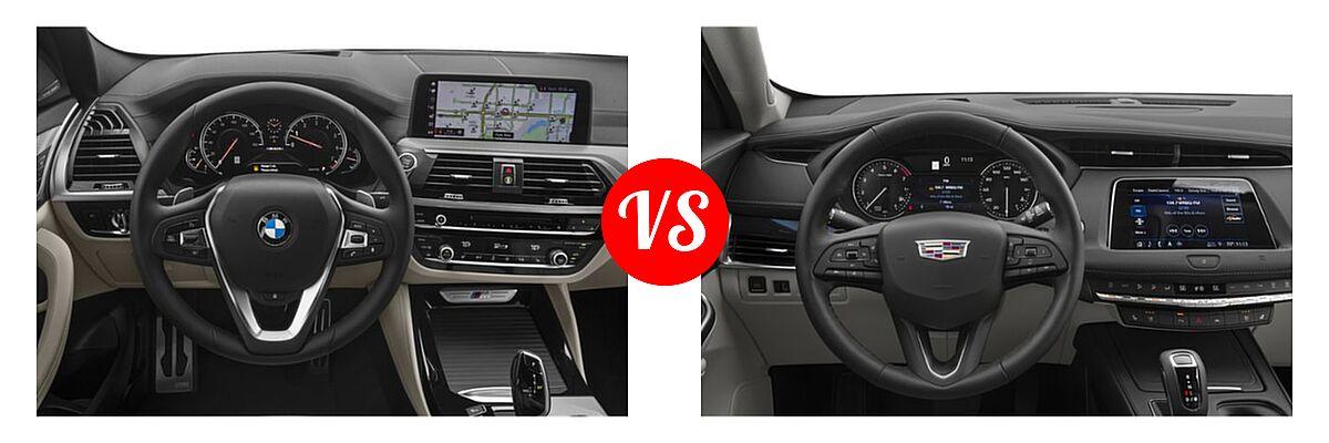 2019 BMW X4 M40i SUV M40i vs. 2019 Cadillac XT4 SUV AWD Luxury / AWD Premium Luxury / AWD Sport / FWD Luxury / FWD Premium Luxury / FWD Sport - Dashboard Comparison