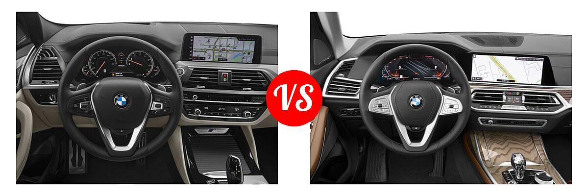 2019 BMW X4 M40i SUV M40i vs. 2019 BMW X7 SUV xDrive40i / xDrive50i - Dashboard Comparison