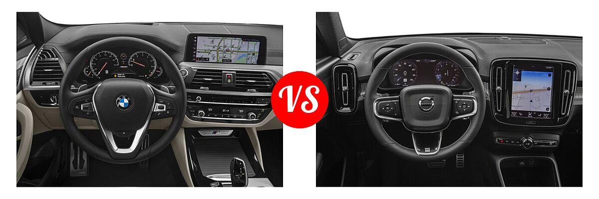 2019 BMW X4 M40i SUV M40i vs. 2019 Volvo XC40 SUV R-Design - Dashboard Comparison