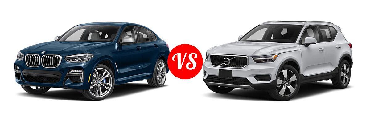 2019 BMW X4 M40i SUV M40i vs. 2019 Volvo XC40 SUV Momentum / R-Design - Front Left Comparison
