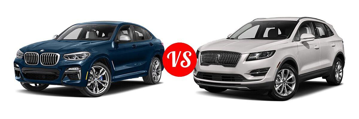 2019 BMW X4 M40i SUV M40i vs. 2019 Lincoln MKC SUV Black Label / FWD / Reserve / Select / Standard - Front Left Comparison