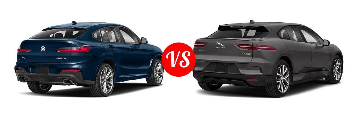 2019 BMW X4 M40i SUV M40i vs. 2019 Jaguar I-PACE SUV Electric First Edition / HSE / S / SE - Rear Right Comparison