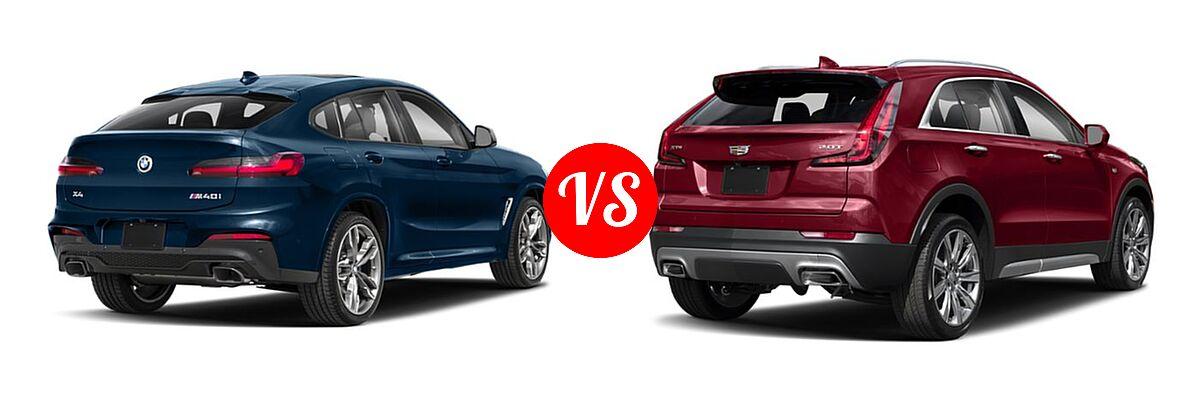 2019 BMW X4 M40i SUV M40i vs. 2019 Cadillac XT4 SUV AWD Luxury / AWD Premium Luxury / AWD Sport / FWD Luxury / FWD Premium Luxury / FWD Sport - Rear Right Comparison