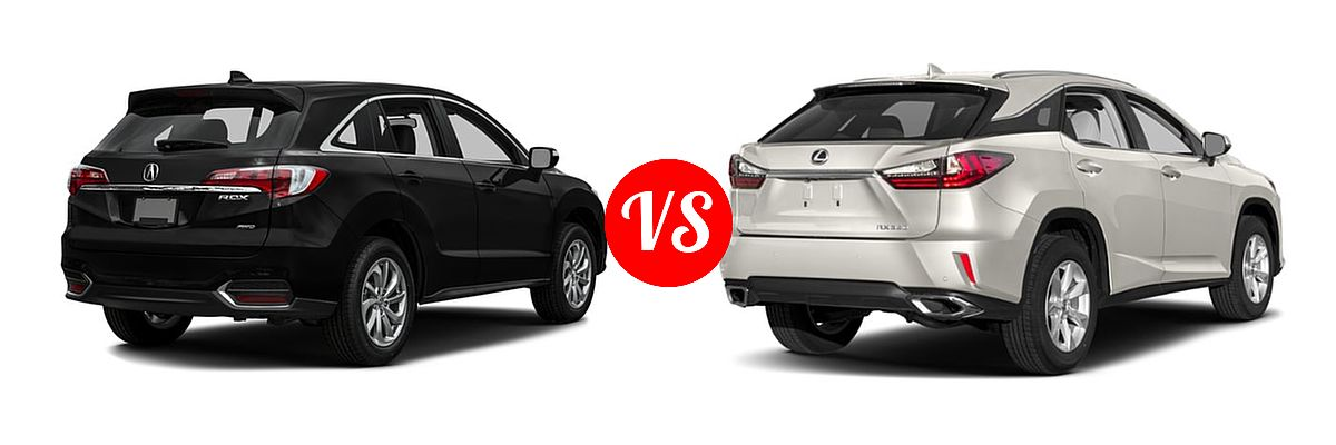 2016 Acura RDX vs. 2019 Lexus RX 350 | Vehie.com