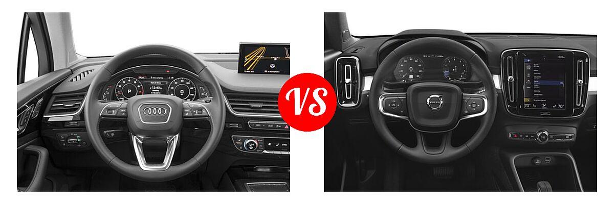 2019 Audi Q7 SUV Premium / Premium Plus / Prestige vs. 2019 Volvo XC40 SUV Momentum / R-Design - Dashboard Comparison