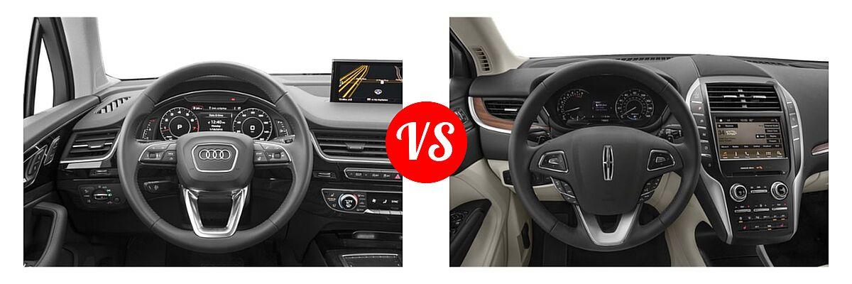 2019 Audi Q7 SUV Premium / Premium Plus / Prestige vs. 2019 Lincoln MKC SUV Black Label / FWD / Reserve / Select / Standard - Dashboard Comparison