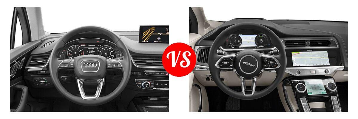 2019 Audi Q7 SUV Premium / Premium Plus / Prestige vs. 2019 Jaguar I-PACE SUV Electric First Edition / HSE / S / SE - Dashboard Comparison