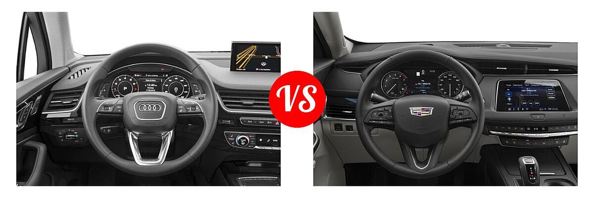 2019 Audi Q7 SUV Premium / Premium Plus / Prestige vs. 2019 Cadillac XT4 SUV AWD Luxury / AWD Premium Luxury / AWD Sport / FWD Luxury / FWD Premium Luxury / FWD Sport - Dashboard Comparison