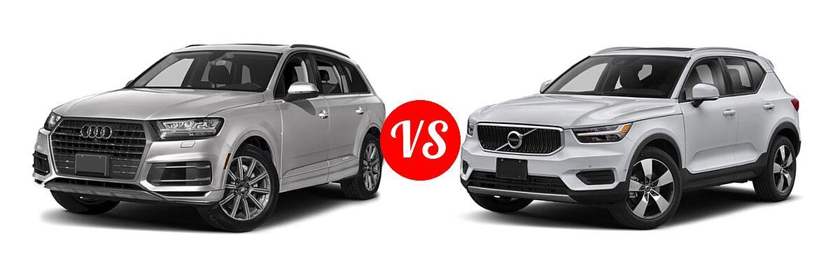 2019 Audi Q7 SUV Premium / Premium Plus / Prestige vs. 2019 Volvo XC40 SUV Momentum / R-Design - Front Left Comparison