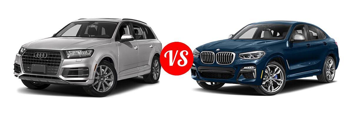 2019 Audi Q7 SUV Premium / Premium Plus / Prestige vs. 2019 BMW X4 M40i SUV M40i - Front Left Comparison