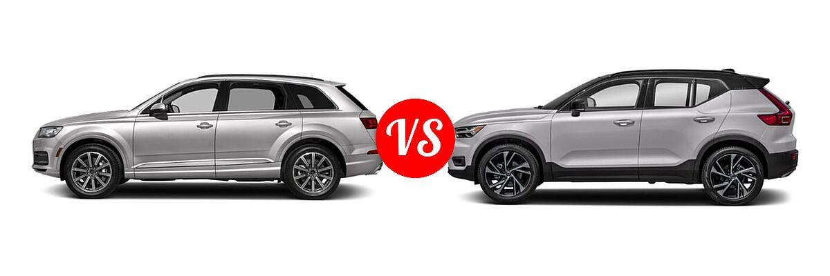 2019 Audi Q7 SUV Premium / Premium Plus / Prestige vs. 2019 Volvo XC40 SUV R-Design - Side Comparison