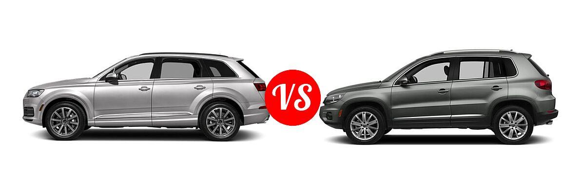 2019 Audi Q7 Suv Premium Plus Prestige Vs 2017 Volkswagen Tiguan