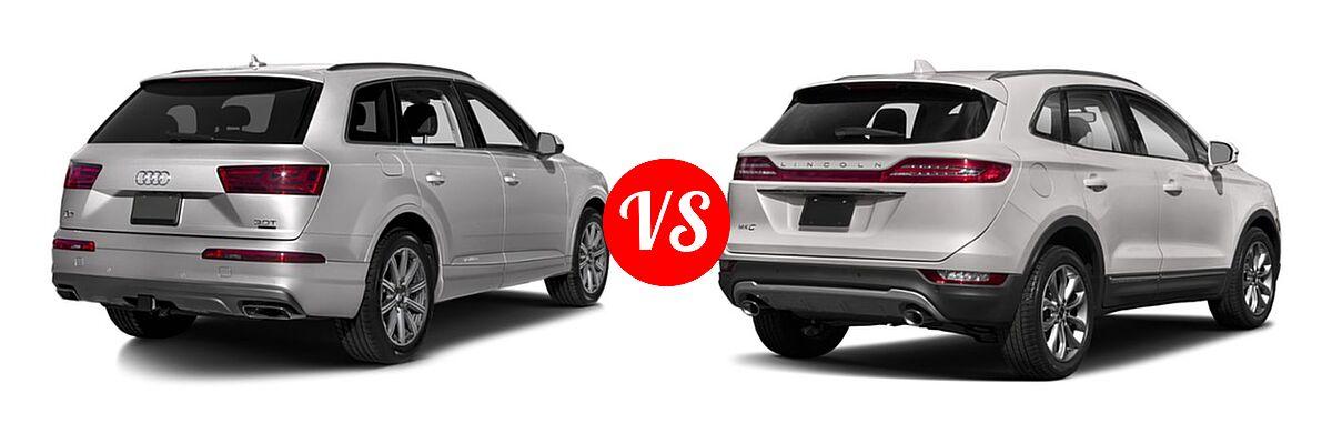 2019 Audi Q7 SUV Premium / Premium Plus / Prestige vs. 2019 Lincoln MKC SUV Black Label / FWD / Reserve / Select / Standard - Rear Right Comparison