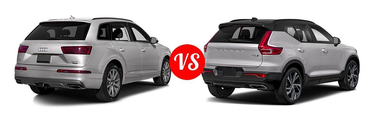 2019 Audi Q7 SUV Premium / Premium Plus / Prestige vs. 2019 Volvo XC40 SUV R-Design - Rear Right Comparison