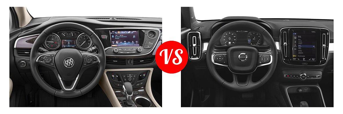 2019 Buick Envision SUV Essence / FWD 4dr / Preferred / Premium / Premium II vs. 2019 Volvo XC40 SUV Momentum / R-Design - Dashboard Comparison