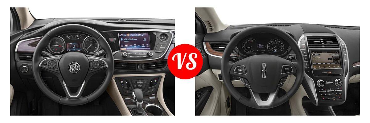 2019 Buick Envision SUV Essence / FWD 4dr / Preferred / Premium / Premium II vs. 2019 Lincoln MKC SUV Black Label / FWD / Reserve / Select / Standard - Dashboard Comparison