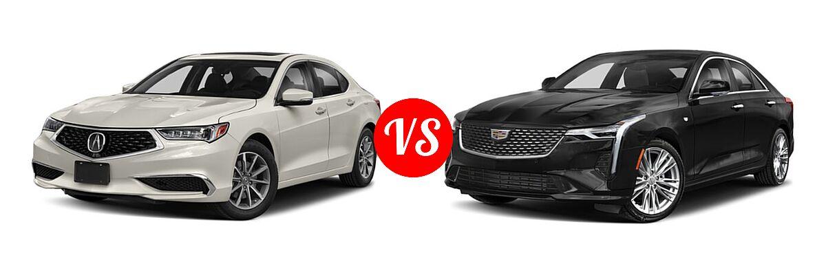 2019 Acura TLX Sedan w/A-SPEC Pkg / w/Technology Pkg vs. 2021 Cadillac CT4 Sedan Luxury / Premium Luxury / Sport / V-Series - Front Left Comparison