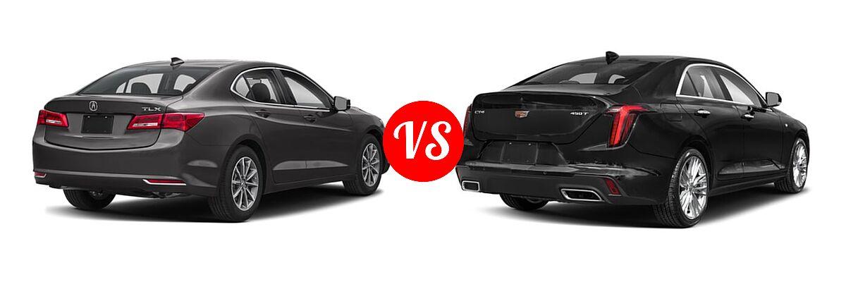 2019 Acura TLX Sedan w/A-SPEC Pkg / w/Technology Pkg vs. 2021 Cadillac CT4 Sedan Luxury / Premium Luxury / Sport / V-Series - Rear Right Comparison