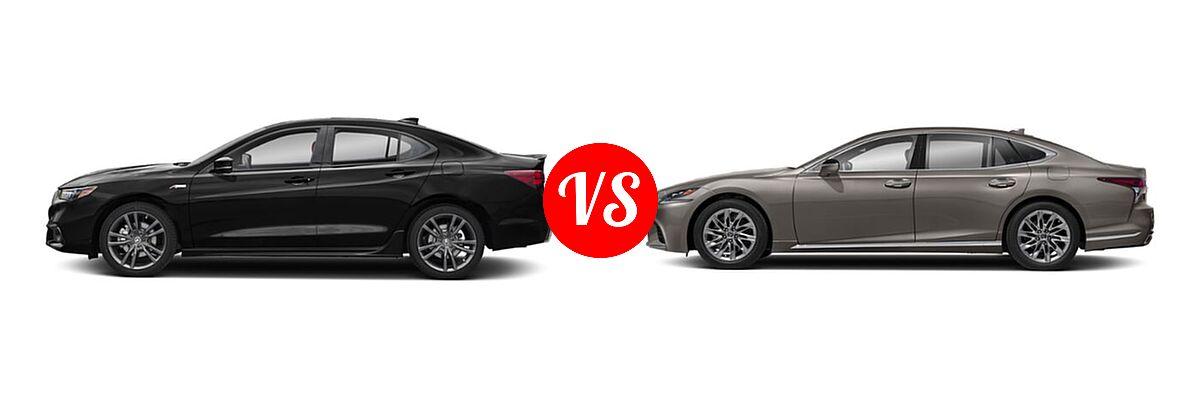2019 Acura TLX vs. 2020 Lexus LS 500   Vehie.com