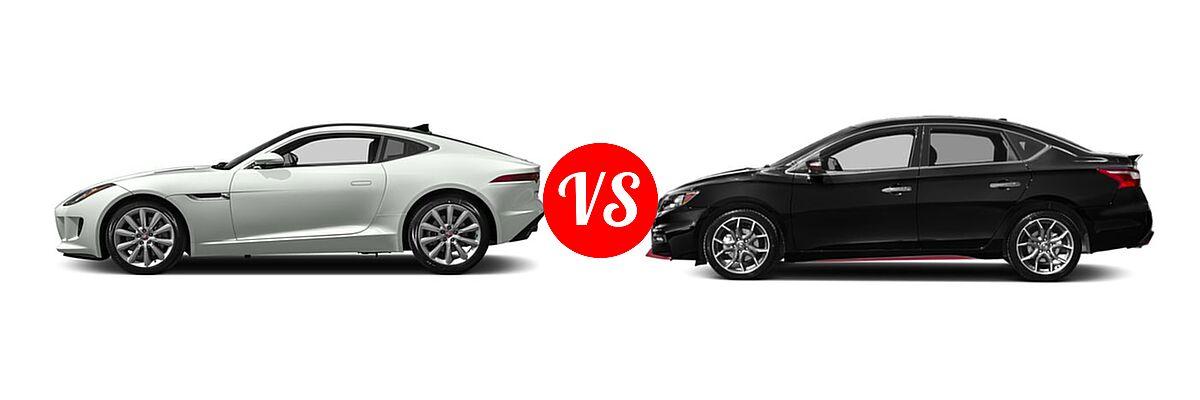 2017 Jaguar F-TYPE Coupe vs  2019 Nissan Sentra NISMO
