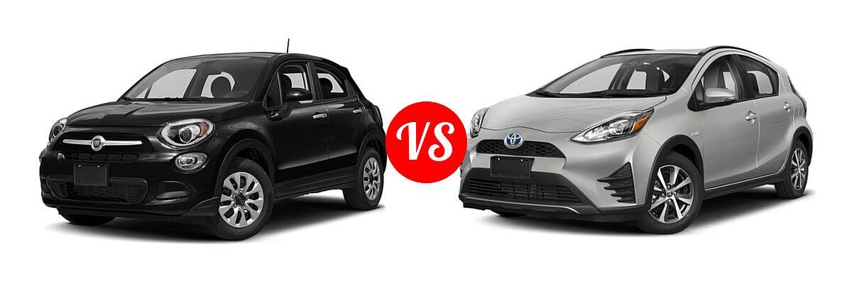 2017 FIAT 500X vs  2019 Toyota Prius c   Vehie com