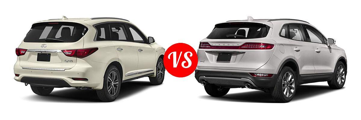 2019 Infiniti QX60 SUV LUXE / PURE vs. 2019 Lincoln MKC SUV Black Label / FWD / Reserve / Select / Standard - Rear Right Comparison