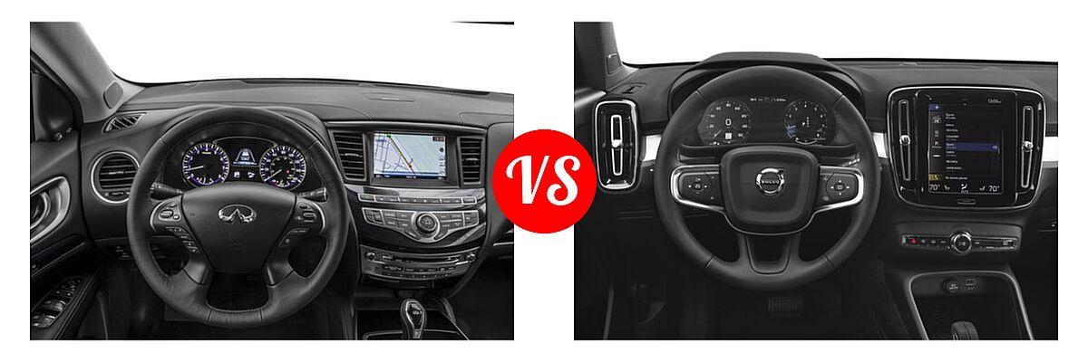 2019 Infiniti QX60 SUV LUXE / PURE vs. 2019 Volvo XC40 SUV Momentum / R-Design - Dashboard Comparison