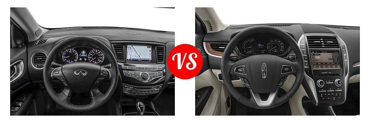 2019 Infiniti QX60 SUV LUXE / PURE vs. 2019 Lincoln MKC SUV Black Label / FWD / Reserve / Select / Standard - Dashboard Comparison