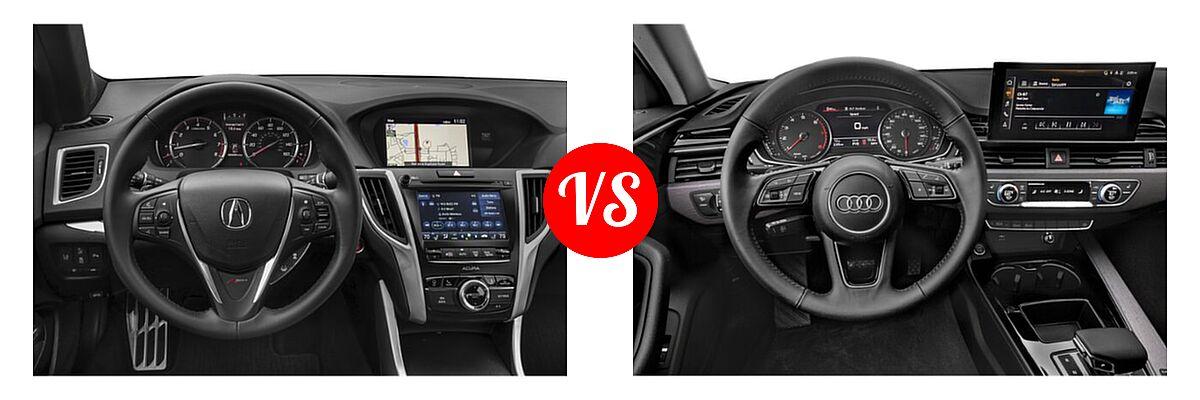 2019 Acura TLX Sedan w/A-SPEC Pkg Red Leather vs. 2020 Audi A4 Sedan Premium / Premium Plus / Prestige - Dashboard Comparison