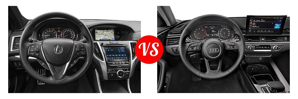 2019 Acura TLX Sedan 2.4L FWD vs. 2020 Audi A4 Sedan Premium / Premium Plus / Prestige - Dashboard Comparison