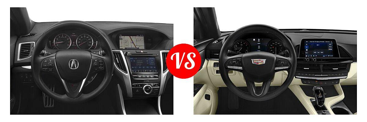 2019 Acura TLX Sedan 3.5L FWD vs. 2021 Cadillac CT4 Sedan Luxury / Premium Luxury / Sport / V-Series - Dashboard Comparison