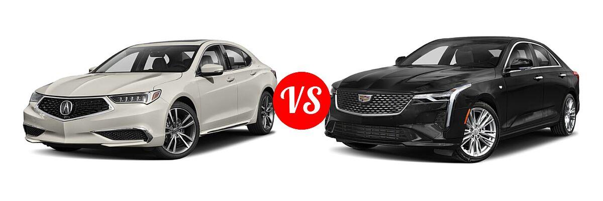 2019 Acura TLX Sedan w/Technology Pkg vs. 2021 Cadillac CT4 Sedan Luxury / Premium Luxury / Sport / V-Series - Front Left Comparison