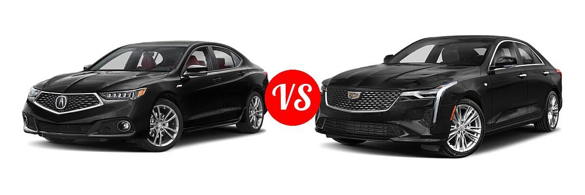 2019 Acura TLX Sedan w/A-SPEC Pkg Red Leather vs. 2021 Cadillac CT4 Sedan Luxury / Premium Luxury / Sport / V-Series - Front Left Comparison