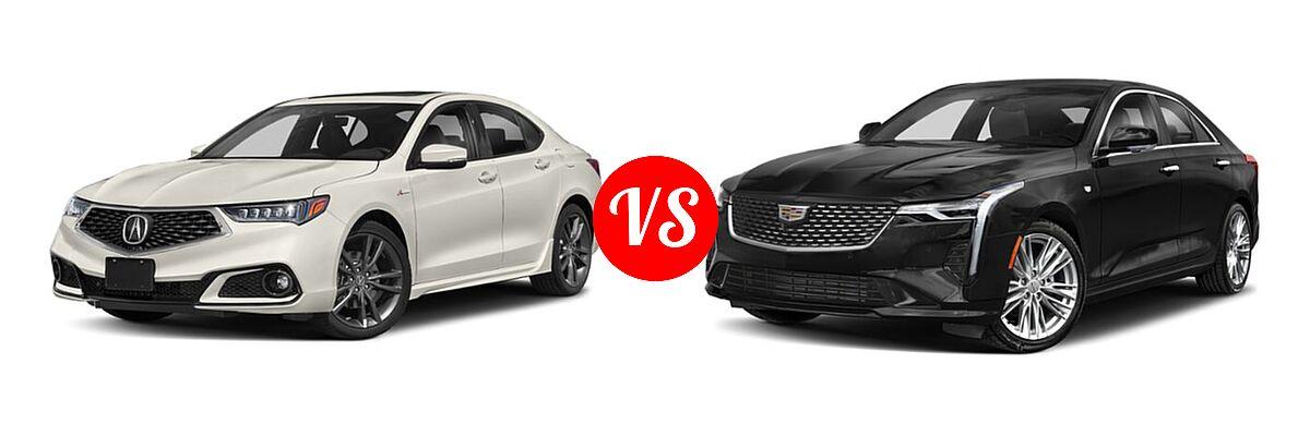 2019 Acura TLX Sedan 3.5L FWD vs. 2021 Cadillac CT4 Sedan Luxury / Premium Luxury / Sport / V-Series - Front Left Comparison