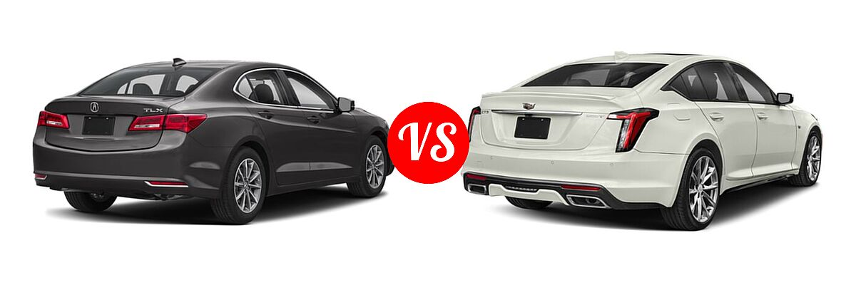 2019 Acura TLX Sedan 2.4L FWD vs. 2020 Cadillac CT5 Sedan Luxury / Premium Luxury / Sport - Rear Right Comparison