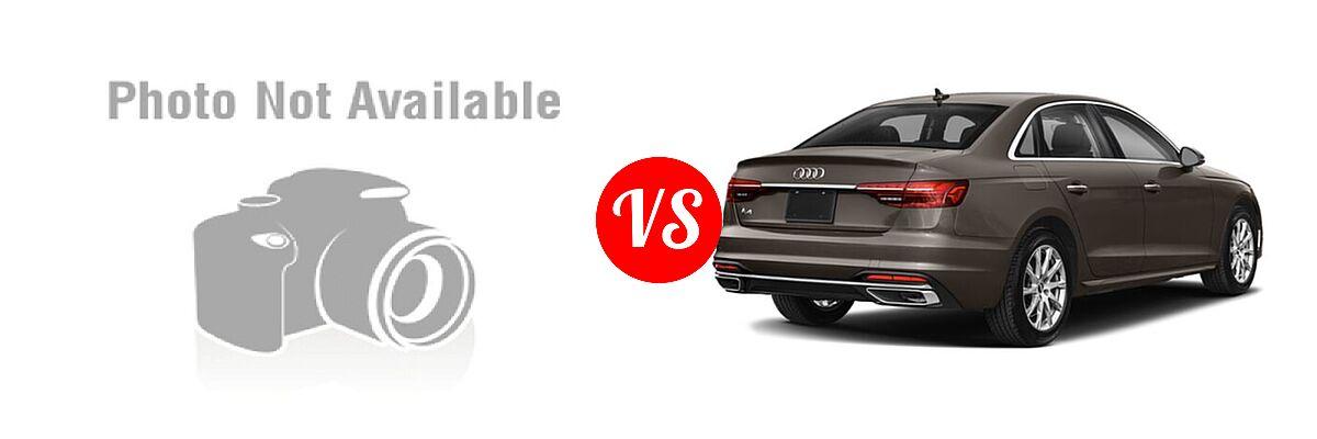 2019 Acura TLX Sedan 3.5L FWD vs. 2020 Audi A4 Sedan Premium / Premium Plus / Prestige - Rear Right Comparison