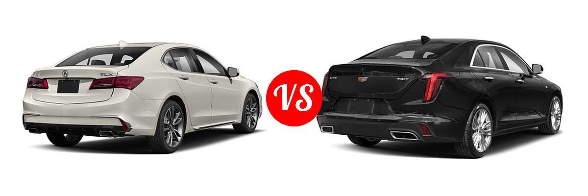 2019 Acura TLX Sedan w/Technology Pkg vs. 2021 Cadillac CT4 Sedan Luxury / Premium Luxury / Sport / V-Series - Rear Right Comparison