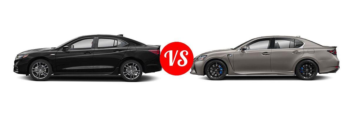 2019 Acura TLX vs. 2020 Lexus GS F   Vehie.com
