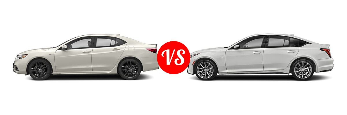 2019 Acura TLX Sedan 2.4L FWD vs. 2020 Cadillac CT5 Sedan Luxury / Premium Luxury / Sport - Side Comparison