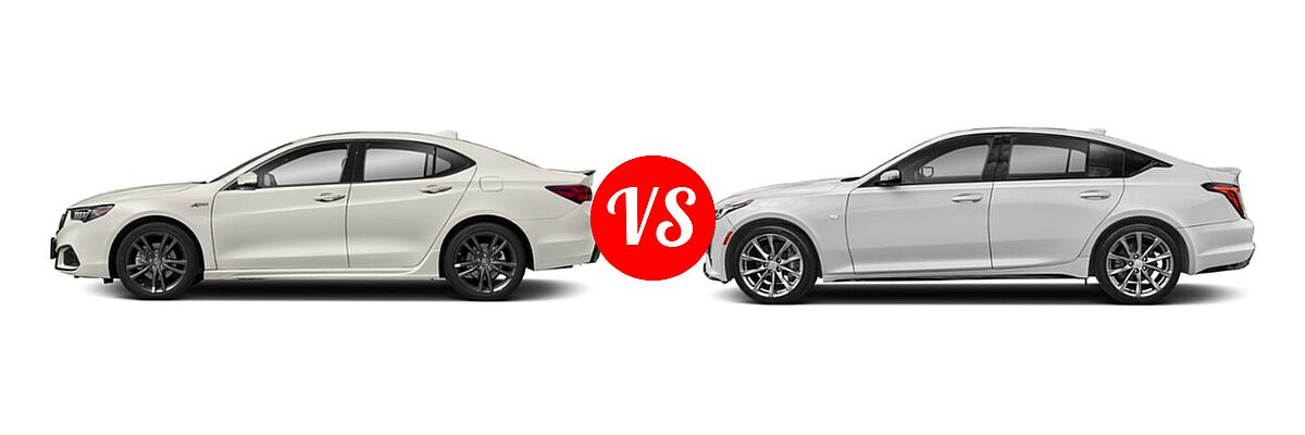 2019 Acura TLX Sedan 3.5L FWD vs. 2020 Cadillac CT5 Sedan Luxury / Premium Luxury / Sport - Side Comparison