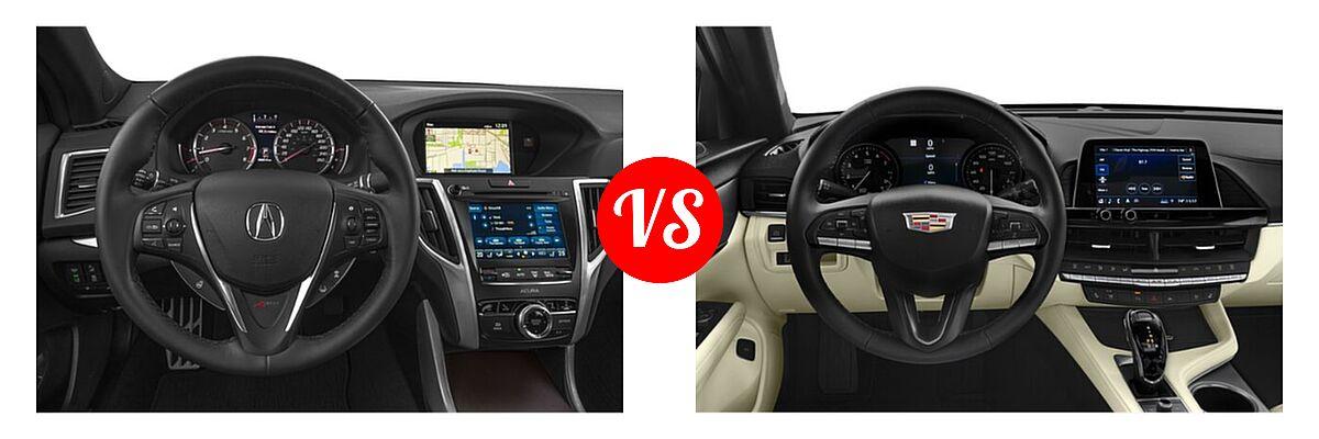2019 Acura TLX Sedan w/Advance Pkg vs. 2021 Cadillac CT4 Sedan Luxury / Premium Luxury / Sport / V-Series - Dashboard Comparison