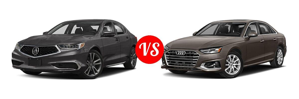 2019 Acura TLX Sedan w/Technology Pkg vs. 2020 Audi A4 Sedan Premium / Premium Plus / Prestige - Front Left Comparison