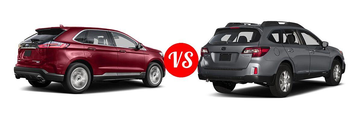 Ford Edge Vs  Subaru Outback Rear Right Comparison