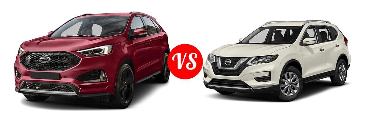 Ford Edge Vs  Nissan Rogue Front Left Comparison