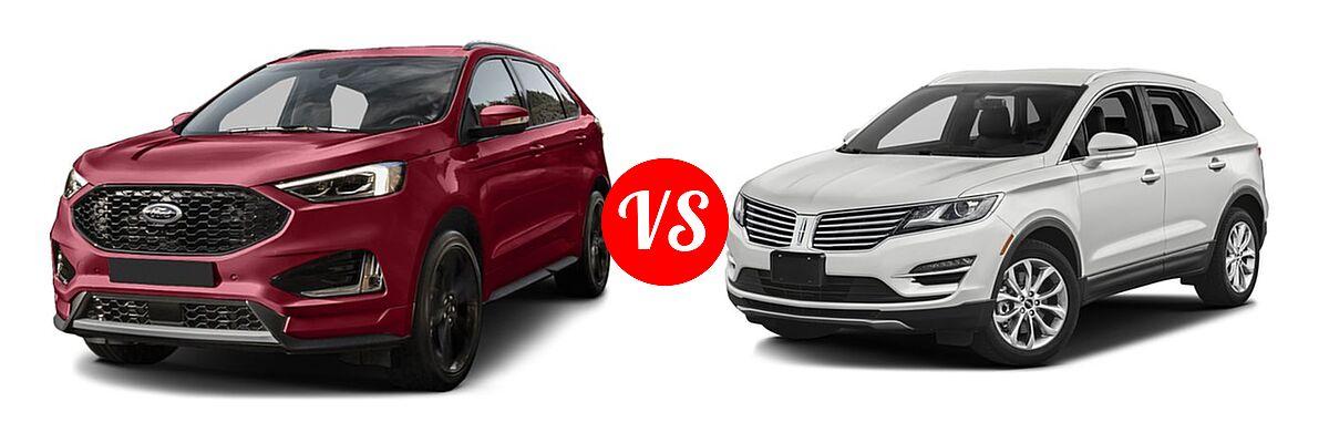 Ford Edge Suv Titanium Vs  Lincoln Mkc Suv Black Label Premiere
