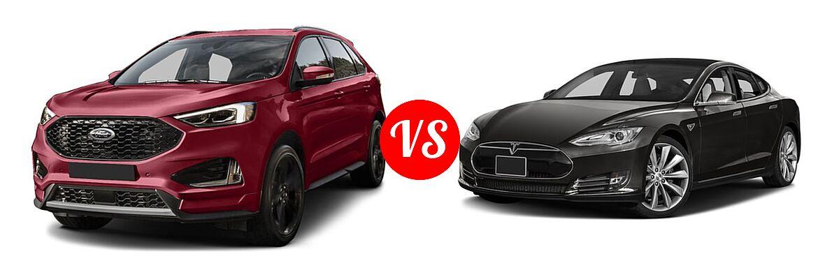 Ford Edge Suv Titanium Vs  Tesla Model S Sedan D D