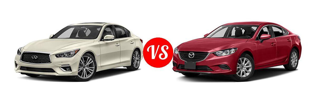 2018 Infiniti Q50 Sedan Hybrid Luxe Vs 2016 Mazda 6 I Sport